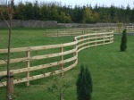 Stretch of Post & Rail Fencing in a Curve