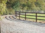 3-Bar Post & Rail Fencing on a Curved Driveway