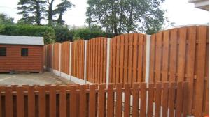 Post &Panel Fencing with Curved Top Finish