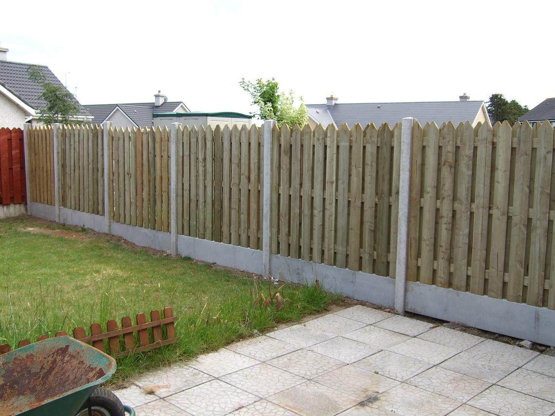 Concrete h posts panels coole fencing timber mantels