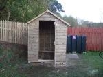 Timber Garden Shed with Open Door