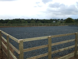 Horse Arena with Timber Fencing