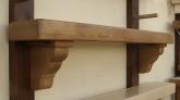 Oak Timber Stove Mantel & Matching Corbels