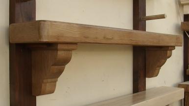 American Oak Timber Mantel Design