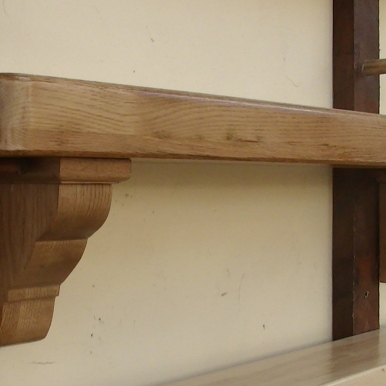 American Oak Timber Mantel Design