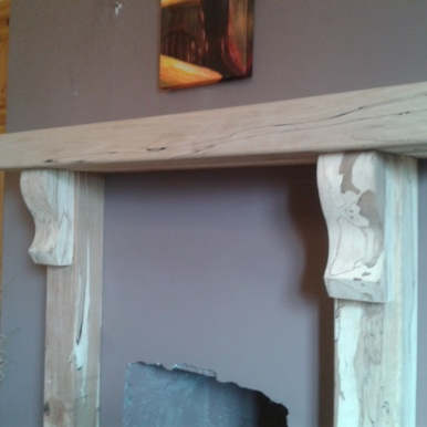 Spalted Beech Fire Surround