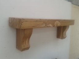Spalted Beech Mantel with Chunky Corbels