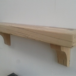 Lightly Spalted Beech Mantel