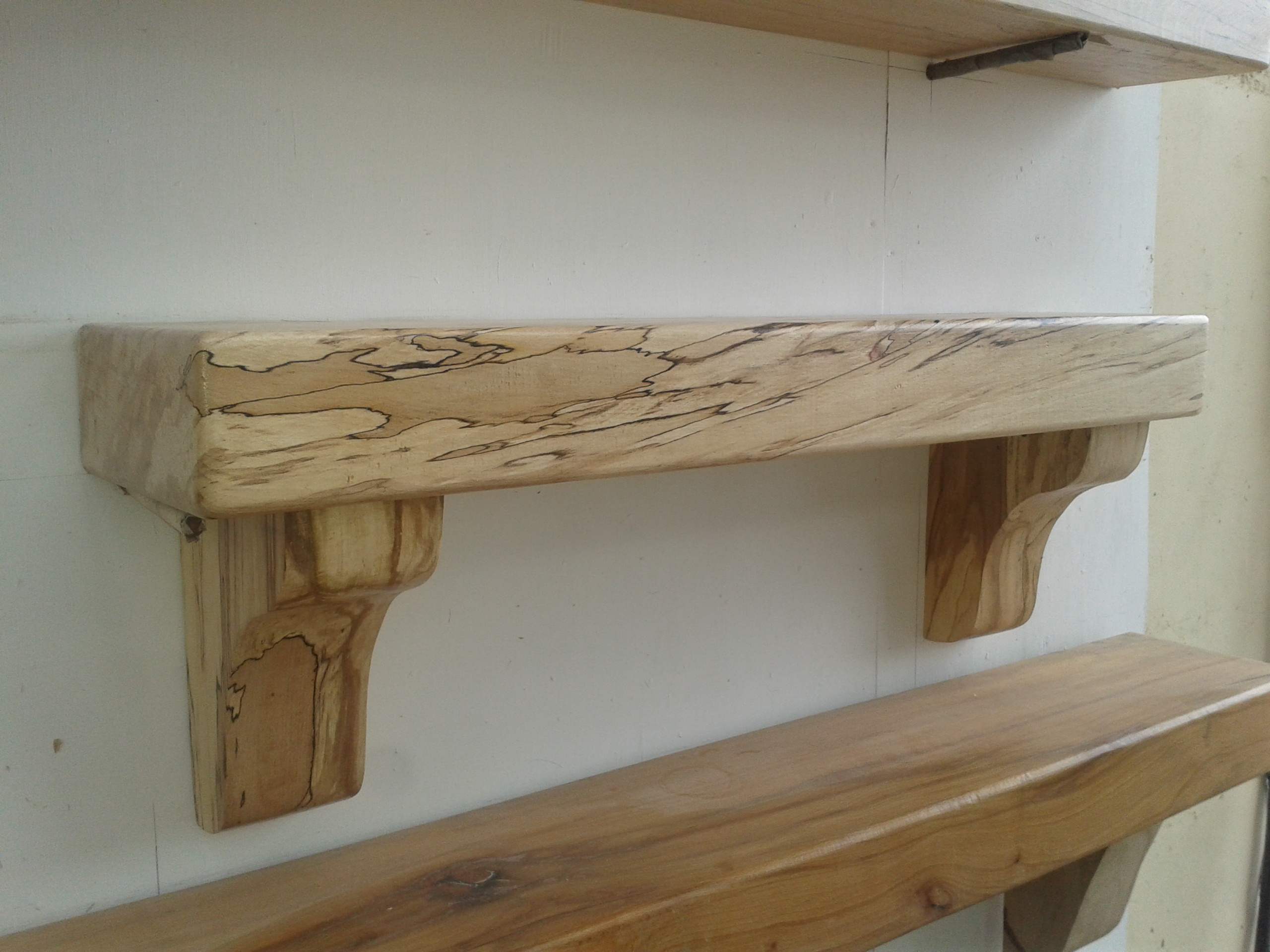 Spalted Beech Wood ~ Ft spalted beech mantel from left coole fencing