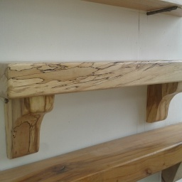 3ft Spalted Beech Mantel from Left
