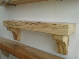 3ft Spalted Beech Mantel from Right