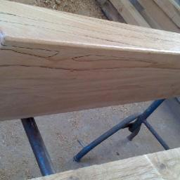 Spalted Beech Mantel End View
