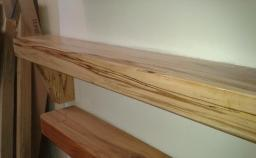 Spalted Beech with Triangular Corbels and Clear Lacquer Finish from Right