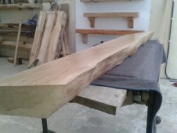 12ft Waney Edged Oak Mantel for a Stone Fireplace