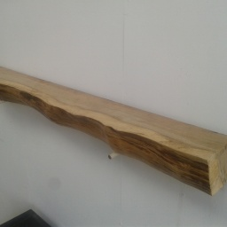 Waney Edged Timber Oak Mantel