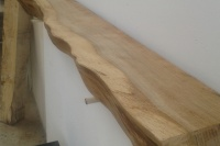 Waney Edged Oak Mantel