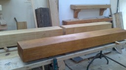 Selection of Irish Oak Beams being Prepared for a Fire Surround