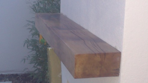 Large Rustic Mantel Outdoor