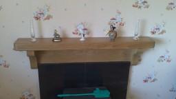 Irish Oak Cottage Mantel with Backboard