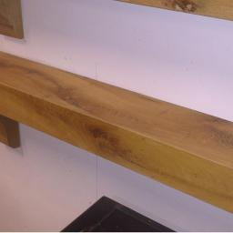 Old Irish Oak Mantel with Corbels