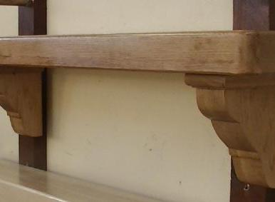 Oak with Ornate Corbels