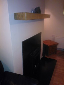 Rustic Oak Irish Floating Mantel