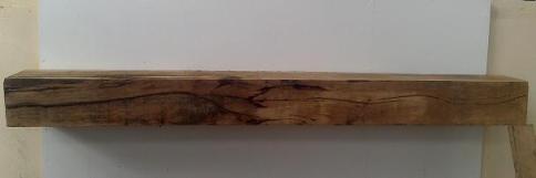 Large Rustic Oak Floating Mantel