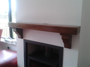 Walnut Timber Mantel