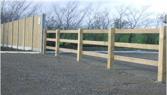 Coole Fencing - Post & Panel meets Post & Rail