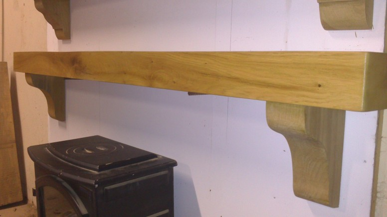 Irish Oak Timber Mantel from Coole Fencing