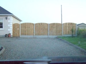 Curved Top Post & Panel Fencing