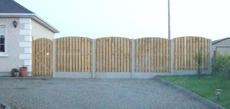 Concrete H-Post & Curved Panel Fencing