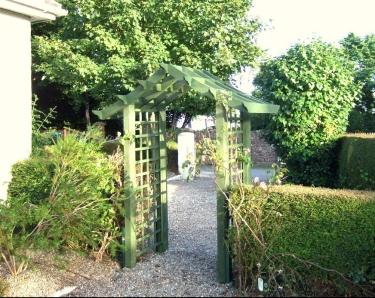 Green Chinese Garden Arch