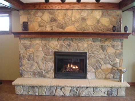 Oak Surround Mantel