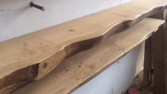 Waney Edged Oak Timber Mantel