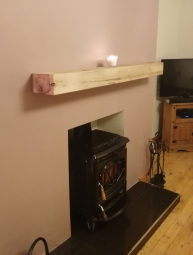 Rustic Oak Mantel Beam
