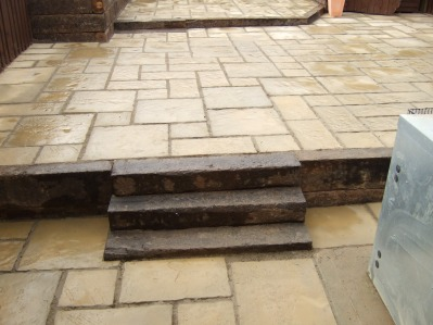 Stepped Patio and Sleepers