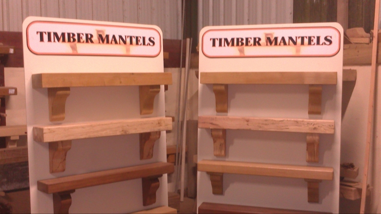 Timber Mantel Display Stands